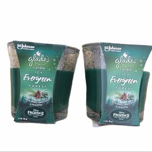 Glade Candle ICY EVERGREEN FOREST Lot of 2